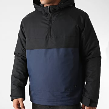 Only And Sons - Veste Outdoor A Capuche Town Block Bleu Marine Noir