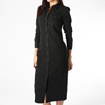 Only - Robe Jean Femme Mette Noir