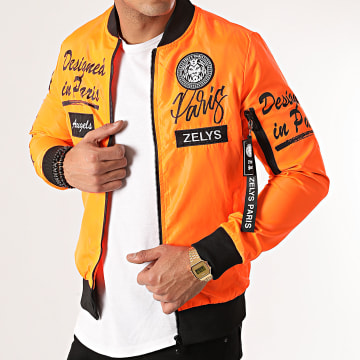Zelys Paris - Veste Bomber Ydesigned Orange Fluo