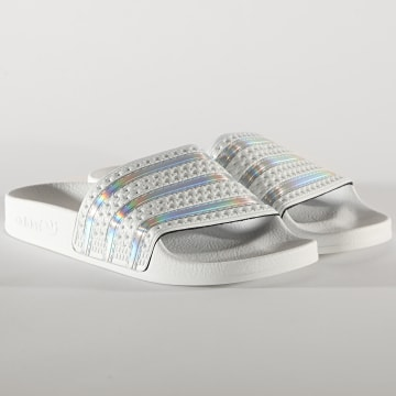 adidas - Claquettes Femme Adilette FV0041 Cryo White Iridescent