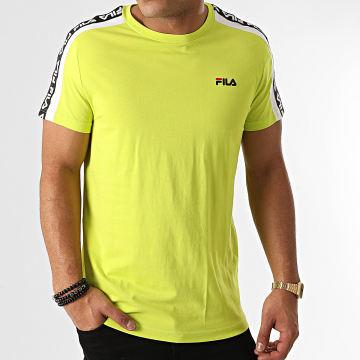 Fila - Tee Shirt A Bandes Thanos 687700 Vert Fluo