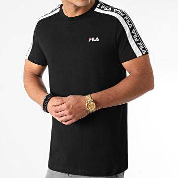 Fila - Tee Shirt A Bandes Thanos 687700 Noir
