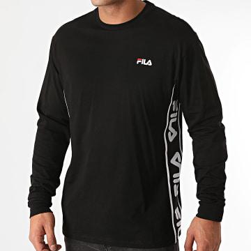 Fila - Tee Shirt Manches Longues A Bandes Tedos 687886 Noir
