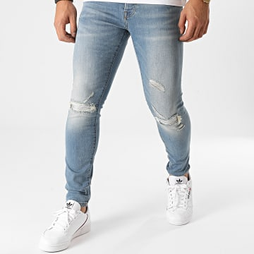 Zelys Paris - Jean Slim Mage Bleu Denim Argenté