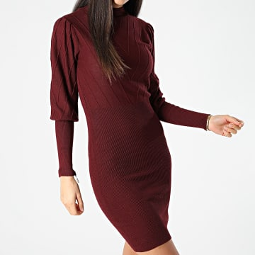 Girls Only - Robe Pull Femme Azera Bordeaux