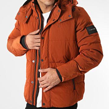 Calvin Klein - Doudoune Capuche Crinkle Nylon 5970 Orange