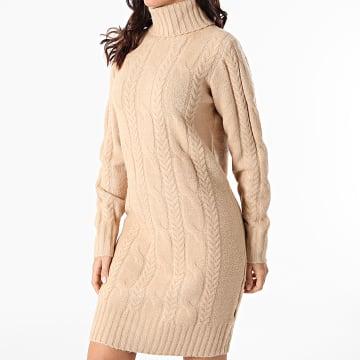 Girls Outfit - Robe Pull Femme Tarkey Beige