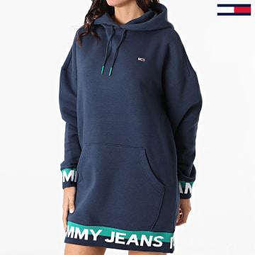 Tommy Jeans - Robe Sweat Capuche Femme Branded Hem 8886 Bleu Marine