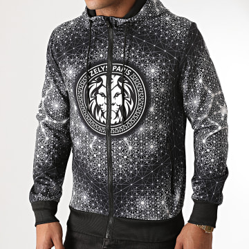Zelys Paris - Sweat Capuche Zippé Ofeat Noir
