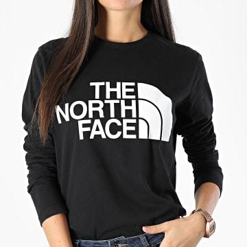The North Face - Tee Shirt Manches Longues Femme Standard Noir
