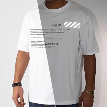 Aarhon - Tee Shirt 93056 Blanc Réfléchissant