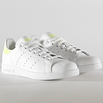 Adidas Originals - Baskets Femme Stan Smith FU9560 Footwear White Hi-Res Yellow Footwear White