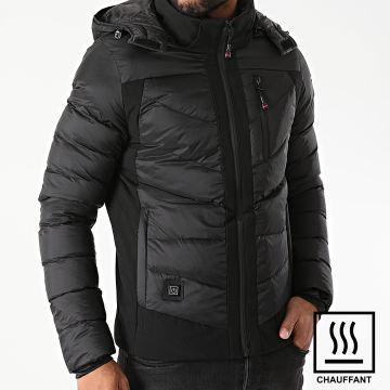 ADW 58 - Doudoune Capuche Chauffante 9055-B Noir
