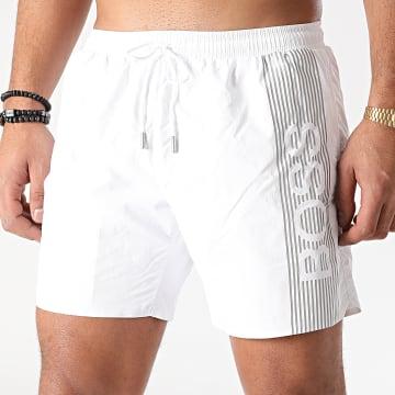 BOSS - Short De Bain Icefish 50442394 Blanc Argenté