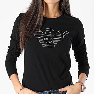 Emporio Armani - Tee Shirt Manches Longues Femme 163229-0A232 Noir