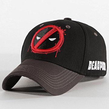 Deadpool - Casquette Logo Noir Gris