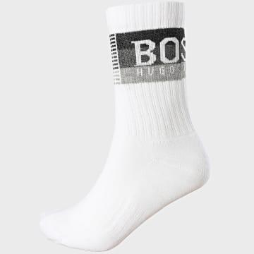 BOSS - Paire De Chaussettes Rib Check Stripe 50442814 BLanc
