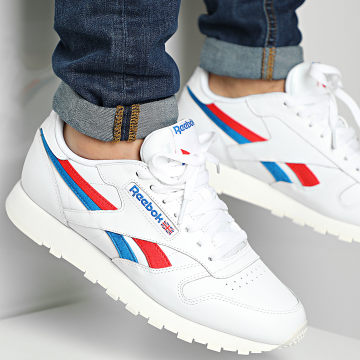 Reebok - Baskets Classic Leather FV2108 White Red Dynamic Blue