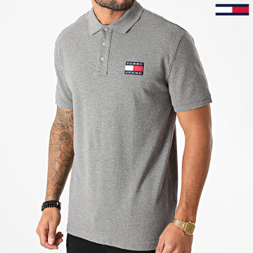 Tommy Jeans - Polo Manches Courtes Tommy Badge 9444 Gris Chiné