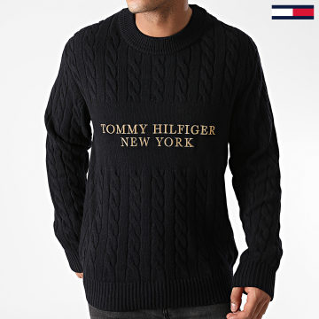 Tommy Hilfiger - Pull Graphic Cable 5460 Bleu Marine