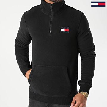 Tommy Jeans - Sweat Col Zippé Polaire Polar Fleece Badge 9779 Noir