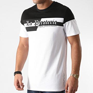 La Piraterie - Tee Shirt Typo Blanc Noir