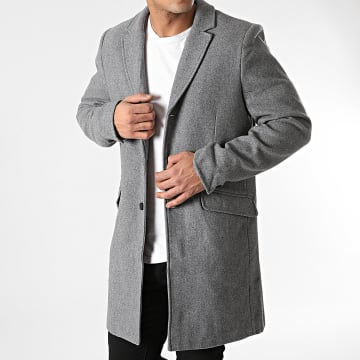 Only And Sons - Manteau Julian Gris Chiné