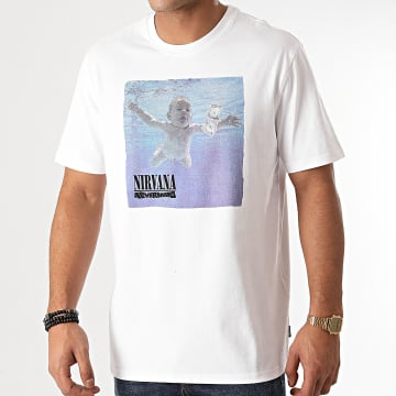 Only And Sons - Tee Shirt Nirvana Blanc