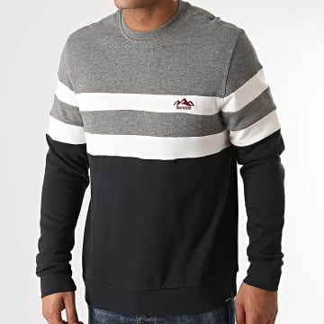 Only And Sons - Sweat Crewneck Damas Bleu Marine Gris Chiné