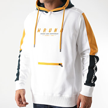 Wrung - Sweat Capuche Web Blanc