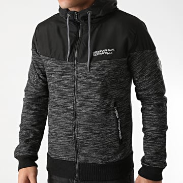 Geographical Norway - Sweat Zippé Capuche Guolity Noir