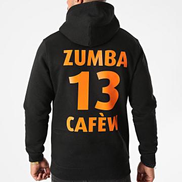 La Franc-Manesserie - Sweat Capuche Zumba Cafew Noir Orange