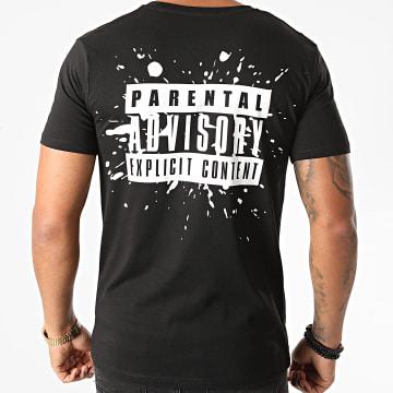 Parental Advisory - Tee Shirt Parental Advisory Splatter Back Noir