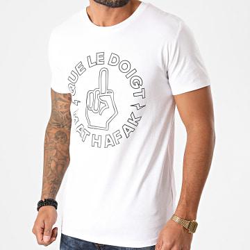 SCH - Tee Shirt Que Le Doigt Blanc