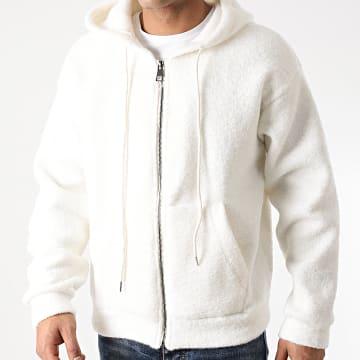 Uniplay - Sweat Zippé Capuche UY534 Blanc