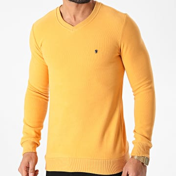 Classic Series - Sweat Col V 3001 Jaune Moutarde