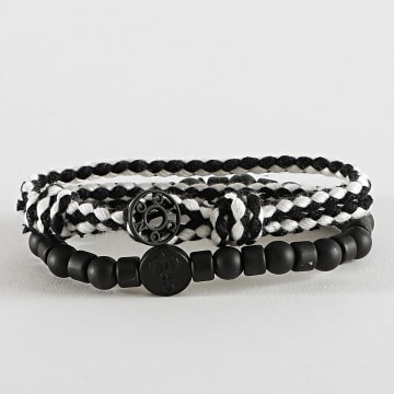 Icon Brand - Bracelet Multi-Rangs LE1304 Noir