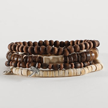 Icon Brand - Bracelet Multi-Rangs B1181 Marron