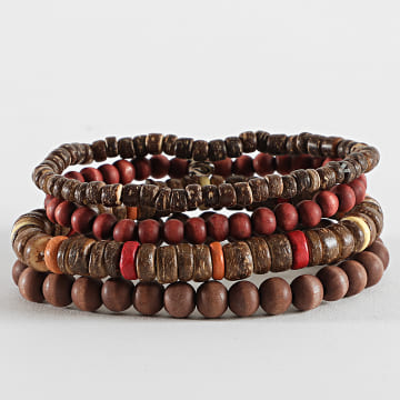 Icon Brand - Bracelet Multi-Rangs B1180 Marron