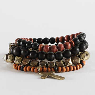 Icon Brand - Bracelet Multi-Rangs B600 Noir Marron