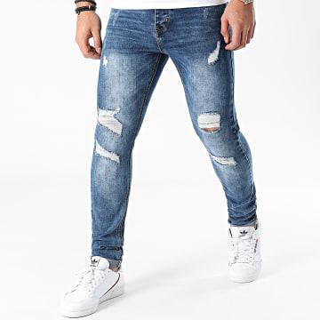 LBO - Jean Skinny Avec Déchirures LBOJG5 Bleu Denim