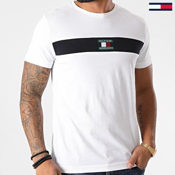 Tommy Hilfiger - Tee Shirt New Small Logo 8796 Blanc