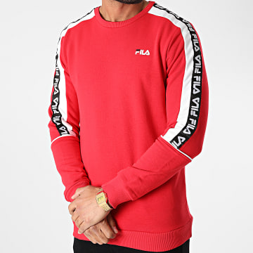 Fila - Sweat Crewneck A Bandes Teom 688812 Rouge