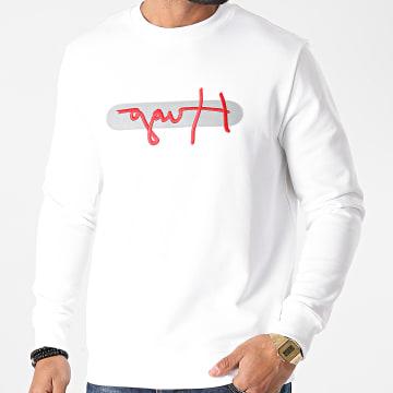 HUGO - Sweat Crewneck Réfléchissant Reverse Logo Dicago 50442619 Blanc