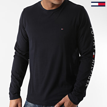 Tommy Hilfiger - Tee Shirt Manches Longues Logo 9096 Bleu Marine