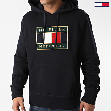 Tommy Hilfiger - Sweat Capuche Icon Badge 5245 Bleu Marine