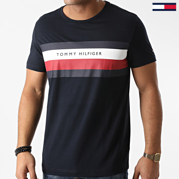 Tommy Hilfiger - Tee Shirt Stripe 5318 Bleu Marine
