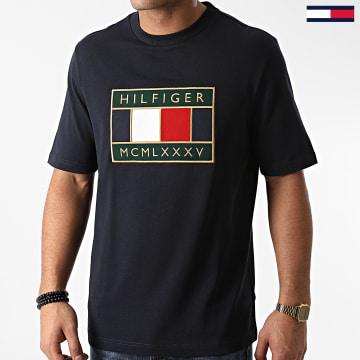 Tommy Hilfiger - Tee Shirt Global Flag Relaxed 5332 Bleu Marine