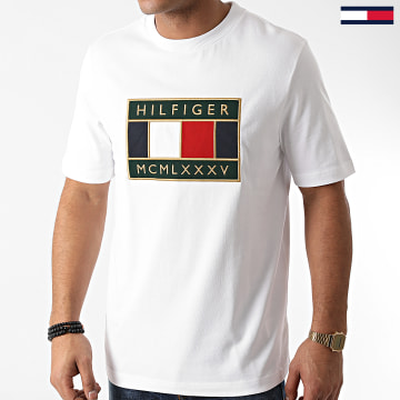 Tommy Hilfiger - Tee Shirt Global Flag Relaxed 5332 Blanc