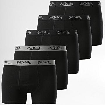 Von Dutch - Lot De 5 Boxers Basic Noir